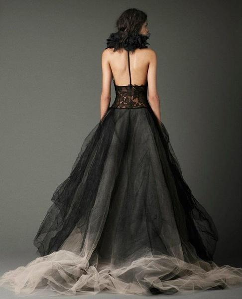 vera wang黑色婚纱系列