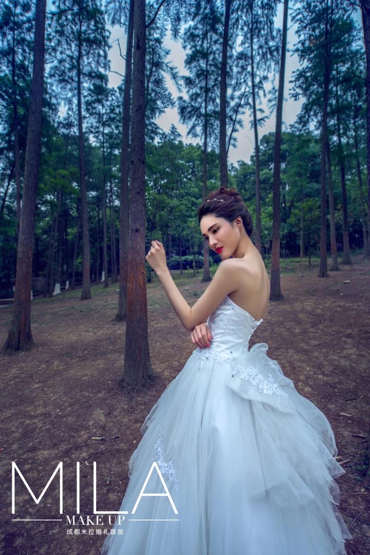 森林系新娘--2014米拉初夏造型图片