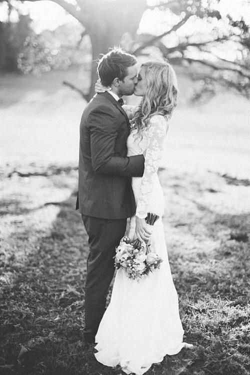 黑白结婚照,复古也很美