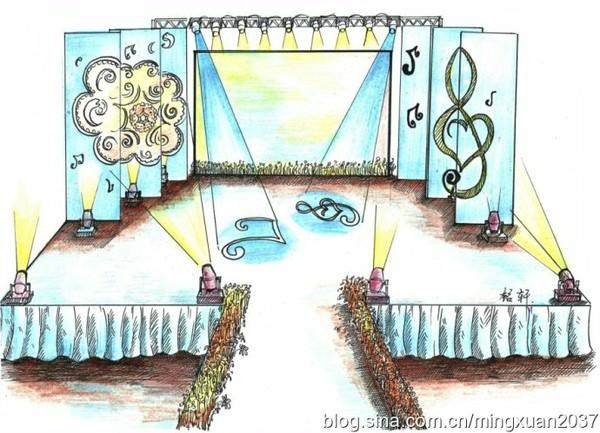 婚礼人的原始手绘婚礼设计图
