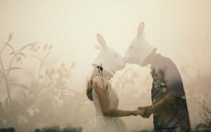 兔头婚纱照