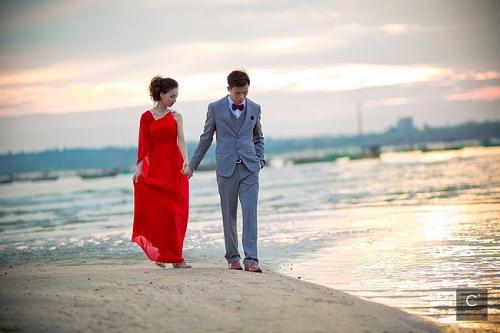艺术风格海边婚纱照-爱在东莞结婚网-lovedg