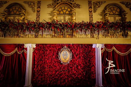 欧式经典 红金色系主题婚礼