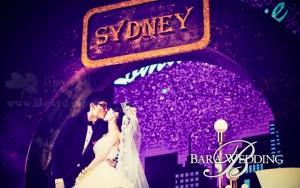 悉尼月夜下的婚礼