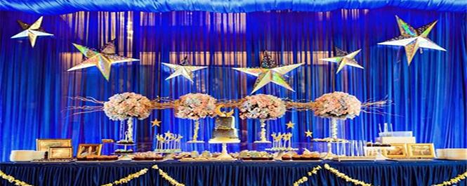 漫步星空:星空婚宴布置