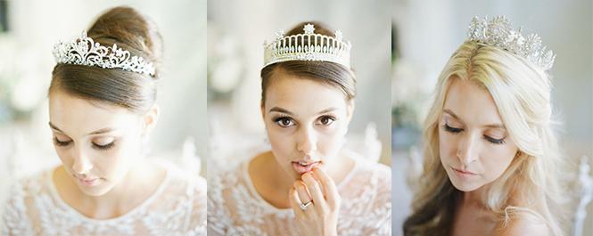 9款戴水晶皇冠的新娘发型