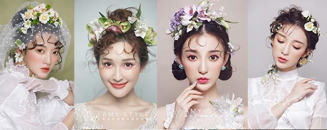 鲜花是妆面造型的点睛之笔