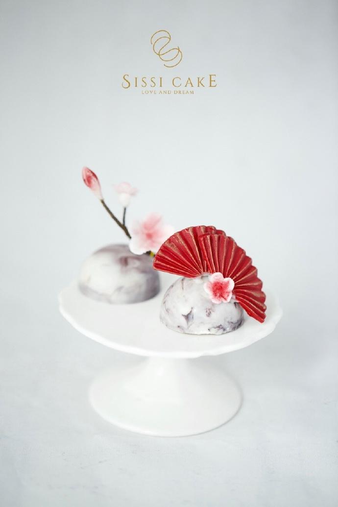水墨画中国风甜品台